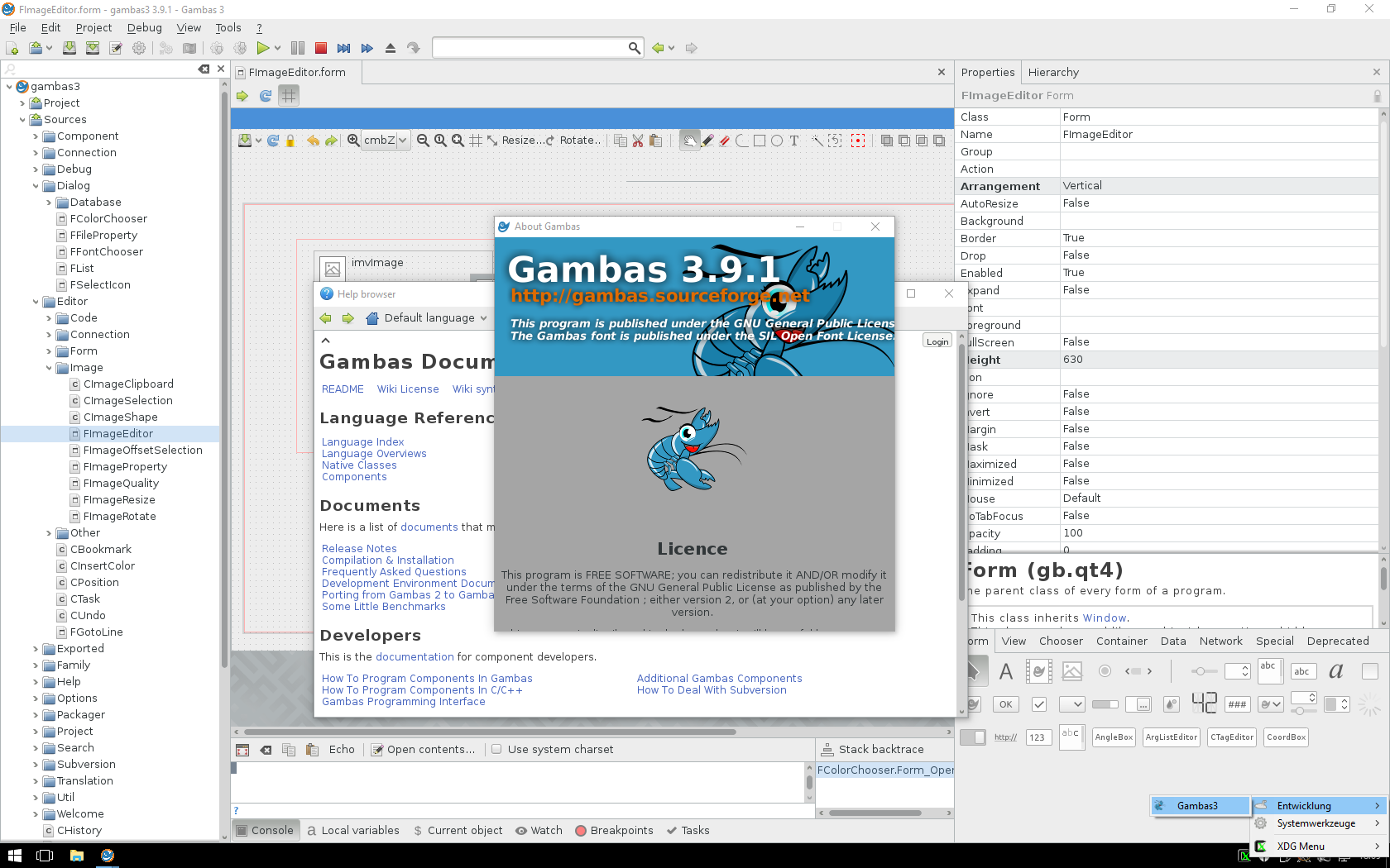cab40e1d56b doc screenshot - Gambas Documentation